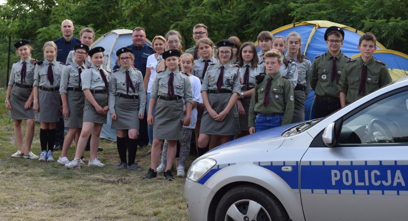 Inne Powiat, Policjanci koloniach obozach - zdjęcie, fotografia