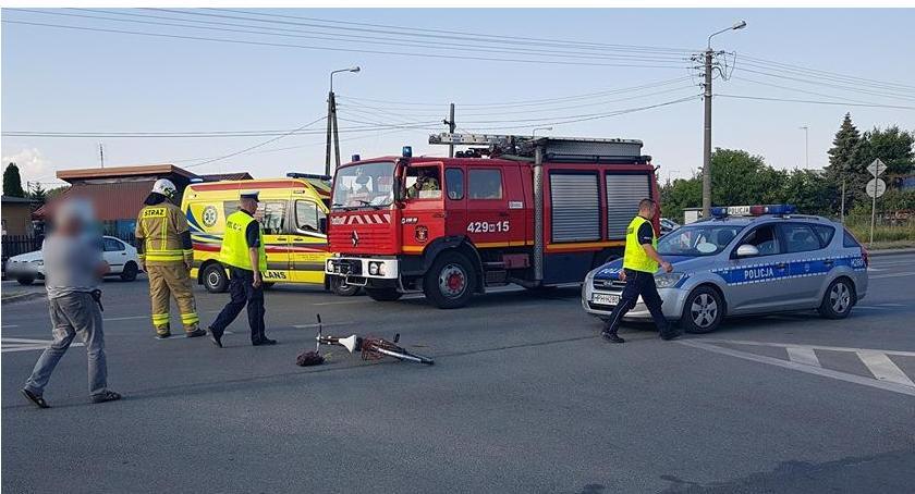 Wypadki drogowe , Garwolin potrącenie letniego rowerzysty - zdjęcie, fotografia