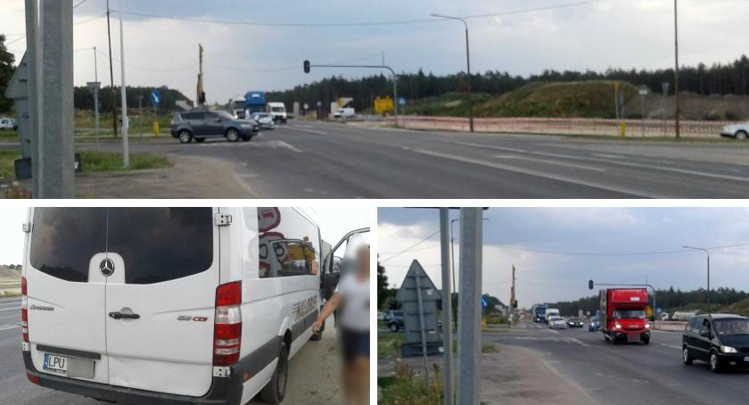 Wypadki drogowe , Lipówki uderzyło podróżnymi - zdjęcie, fotografia