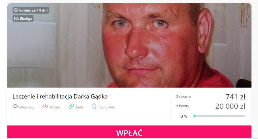 Inne Powiat, Zrzutka leczenie rehabilitację Darka Gądka - zdjęcie, fotografia