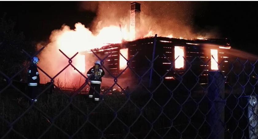 Pożary - interwencje straży, Pożar gminie Maciejowice - zdjęcie, fotografia