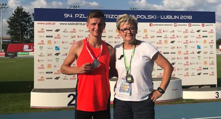 Lekkoatletyka, Robert Głowala wicemistrzem Polski! - zdjęcie, fotografia