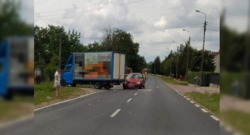 Wypadki drogowe , Wypadek Żelechowie jedna osoba szpitalu - zdjęcie, fotografia