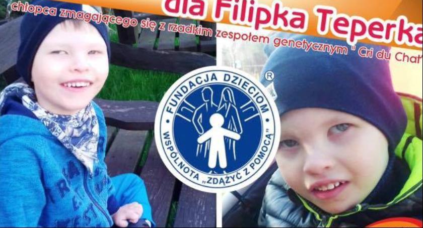 W Powiecie, Piknik charytatywny Filipka Teperka niedzielę - zdjęcie, fotografia