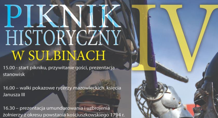 Festyny - Pikniki, Piknik historyczny Sulbinach program wydarzenia - zdjęcie, fotografia