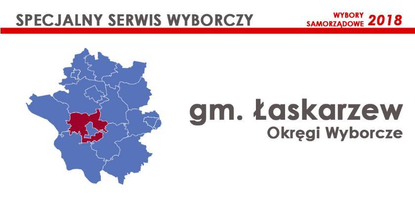 Obwody wyborcze, Łaskarzew Okręgi wyborcze wybory samorządowe - zdjęcie, fotografia