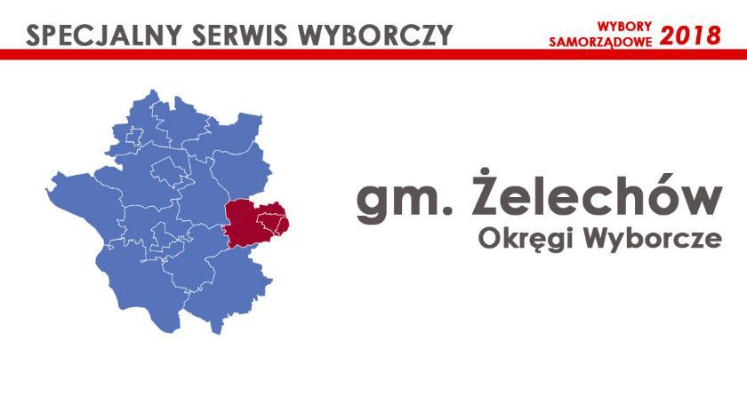 Obwody wyborcze, Żelechów Okręgi wyborcze wybory samorządowe - zdjęcie, fotografia