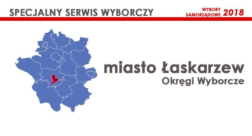 Obwody wyborcze, Miasto Łaskarzew Okręgi wyborcze wybory samorządowe - zdjęcie, fotografia