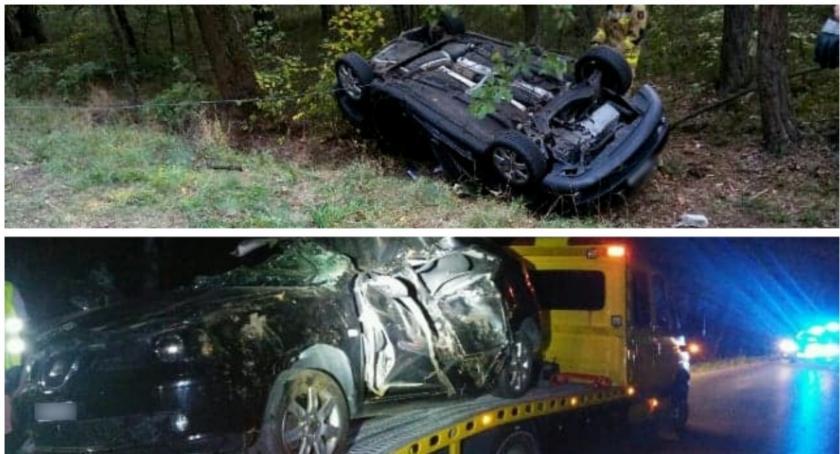Wypadki drogowe , Wypadek Garwolin kierował seatem - zdjęcie, fotografia