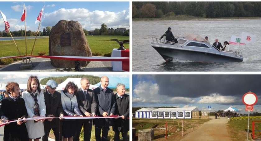 Inwestycje Miejskie, Zaprezentowali zbiornik przecięli wstęgę pamiątkowym kamieniu - zdjęcie, fotografia
