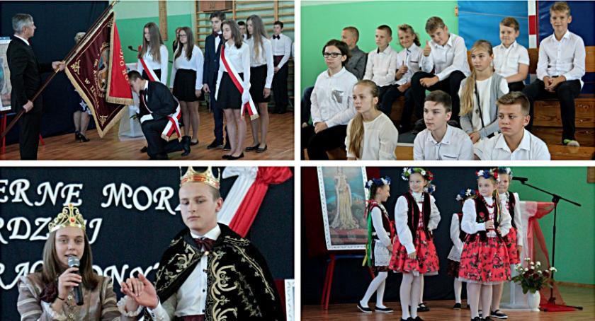 Uroczystości Powiat, Szkoła Uninie otrzymała sztandar - zdjęcie, fotografia