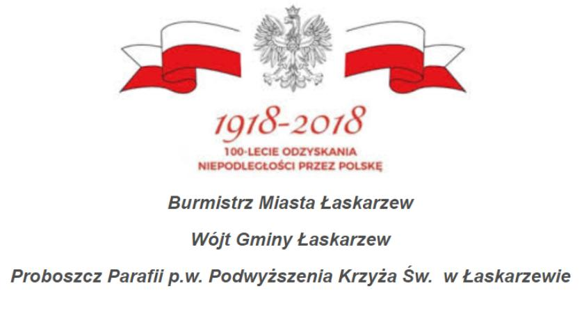W Powiecie, rocznica odzyskania niepodległości Łaskarzewie - zdjęcie, fotografia