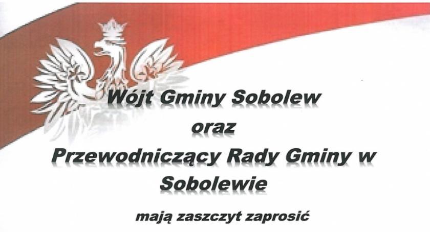 W Powiecie, Gminne obchody rocznicy odzyskania niepodległości Sobolewie - zdjęcie, fotografia