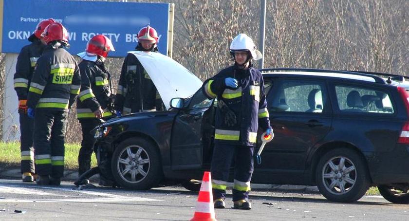 Wypadki drogowe , Wypadek skrzyżowaniu Wildze - zdjęcie, fotografia