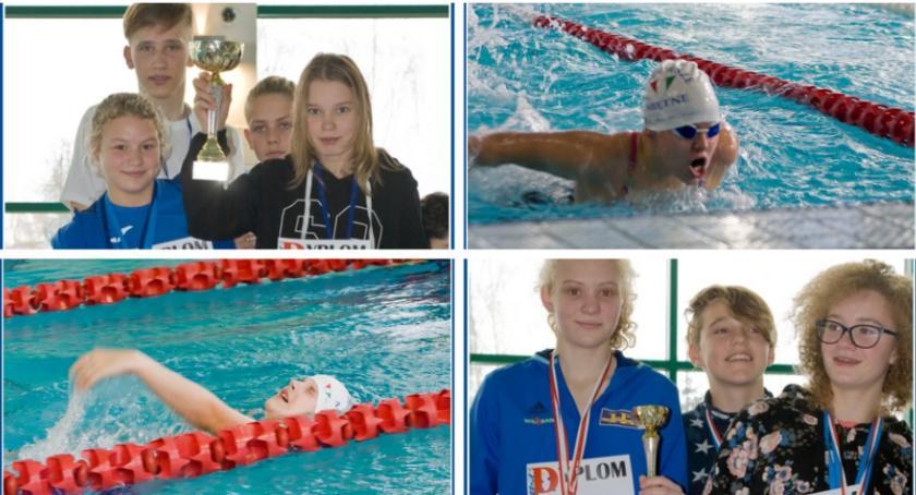 Pływanie, medali rekordy życiowe sukces pływaków Mazowsze Miętne - zdjęcie, fotografia