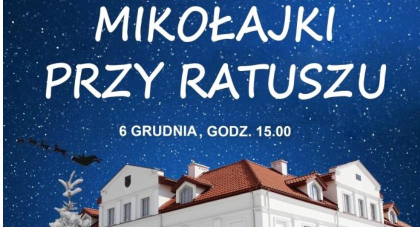 W Powiecie, Mikołajki żelechowskim Ratuszu - zdjęcie, fotografia