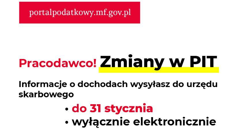 Inne Powiat, terminy sposób przesyłania informacji dochodach - zdjęcie, fotografia