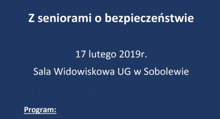 W Powiecie, seniorami bezpieczeństwie zaproszenie spotkanie - zdjęcie, fotografia