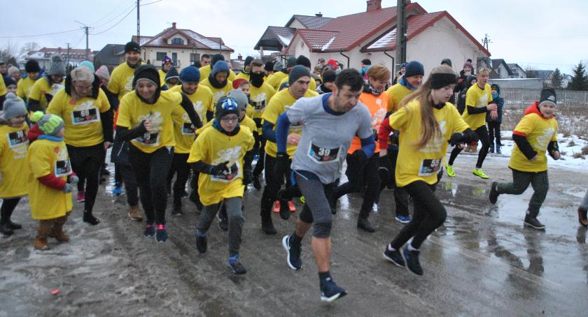 Biegi, Maciejowice sportowo wsparły WOŚP - zdjęcie, fotografia