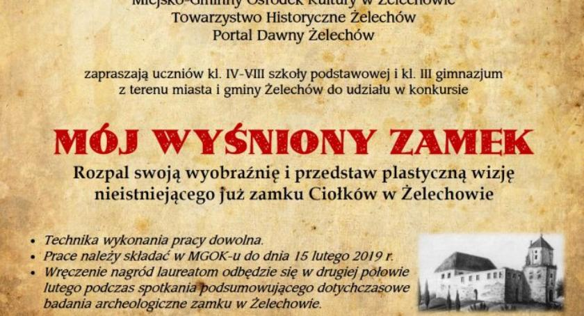W Powiecie, wyśniony zamek konkurs plastyczny - zdjęcie, fotografia