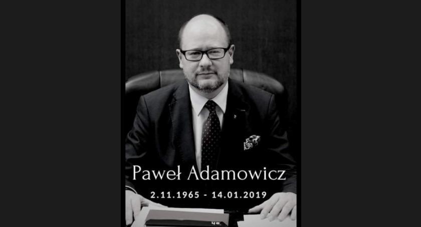 Inne Miejskie, żałobna Garwolinie intencji prezydenta Adamowicza - zdjęcie, fotografia