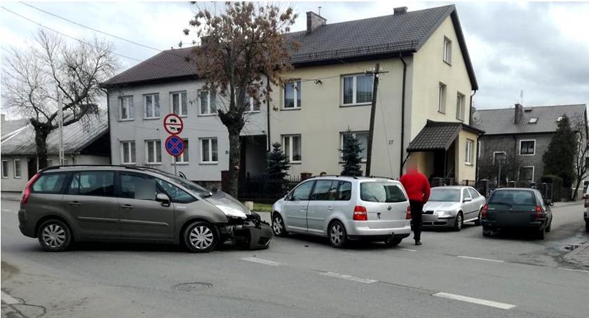 Wypadki drogowe , Kolizja Długiej - zdjęcie, fotografia