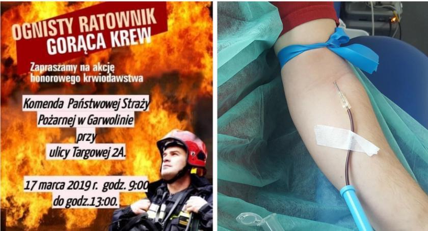 W Garwolinie, Akcja krwiodawstwa Ognisty Ratownik Gorąca niedzielę - zdjęcie, fotografia