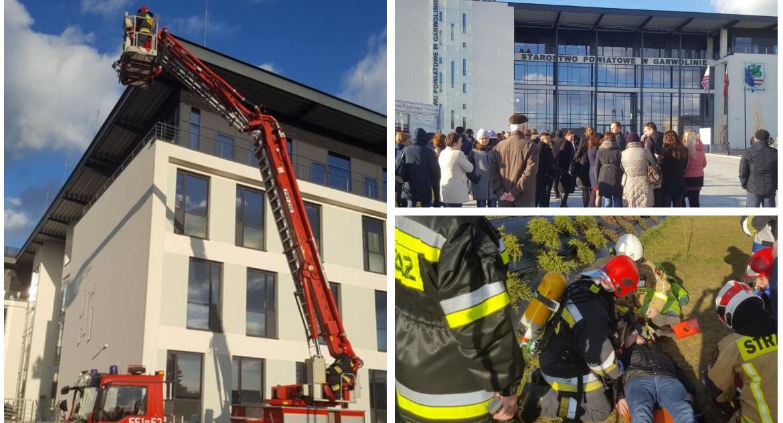 Pożar w starostwie i ewakuacja pracowników