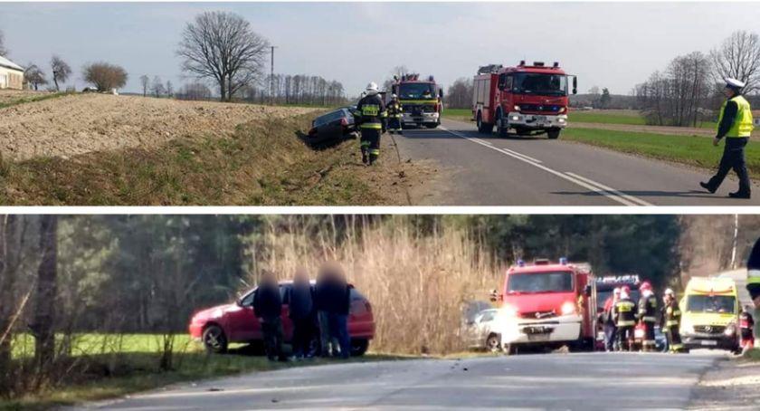Wypadki drogowe , kolizji porzucili pojazd uciekli policja poszukuje kierowcy - zdjęcie, fotografia