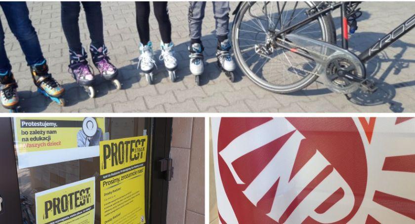 Inne Powiat, Uczniowie strajku nauczycieli - zdjęcie, fotografia