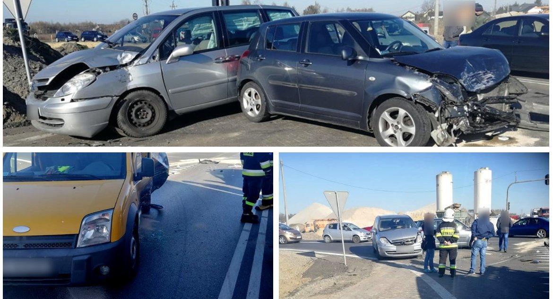 Wypadki drogowe , Wypadek nowym skrzyżowaniu Lipówkach utrudnienia - zdjęcie, fotografia
