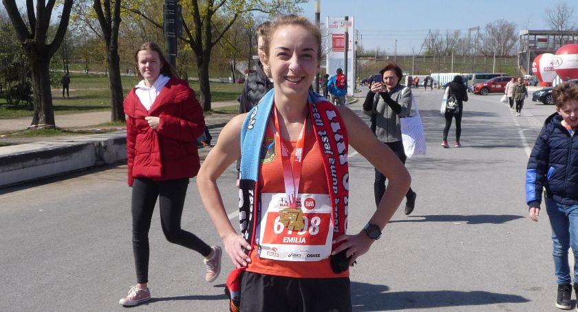 Biegi, Emilia Mazek druga wśród Polek Orlen Warsaw Marathon - zdjęcie, fotografia