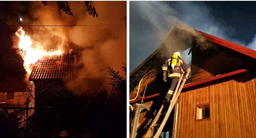 Pożary - interwencje straży, Pożar Sulbinach spłonął całkowicie - zdjęcie, fotografia
