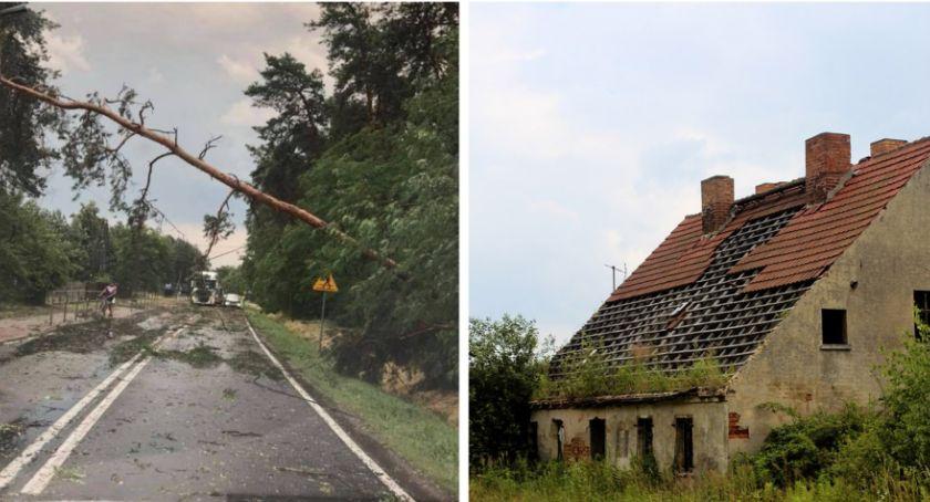 Pożary - interwencje straży, Gwałtowne silne wiatry uszkodziły dachy połamały drzewa - zdjęcie, fotografia