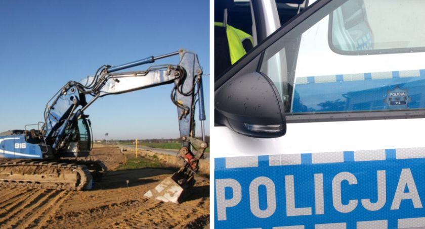 Sprawy kryminalne , Kradli koparek budowie - zdjęcie, fotografia