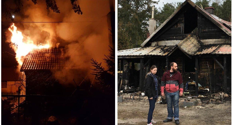 Charytatywnie, pożarze stracili dorobek życia Pomóżmy Monice Marcinowi - zdjęcie, fotografia