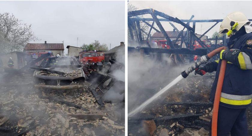 Pożary - interwencje straży, Podpalacz szpitalu pożar stodoły - zdjęcie, fotografia