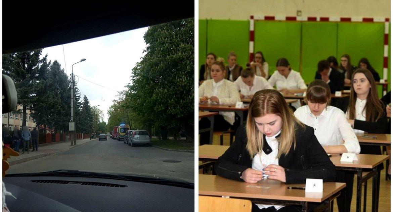 Inne Powiat, Alarmy bombowe szkołach maturami - zdjęcie, fotografia