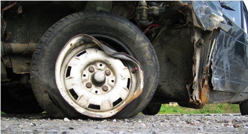 Wypadki drogowe , Efekt domina końcu obwodnicy policja apeluje ostrożność - zdjęcie, fotografia