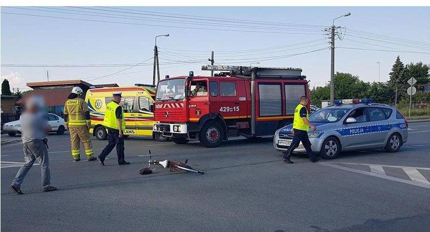 Wypadki drogowe , Pijany kierowca potrącił rowerzystkę - zdjęcie, fotografia