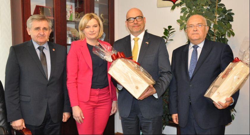 Inne Miejskie, Radca ambasady wizytą Garwolinie - zdjęcie, fotografia