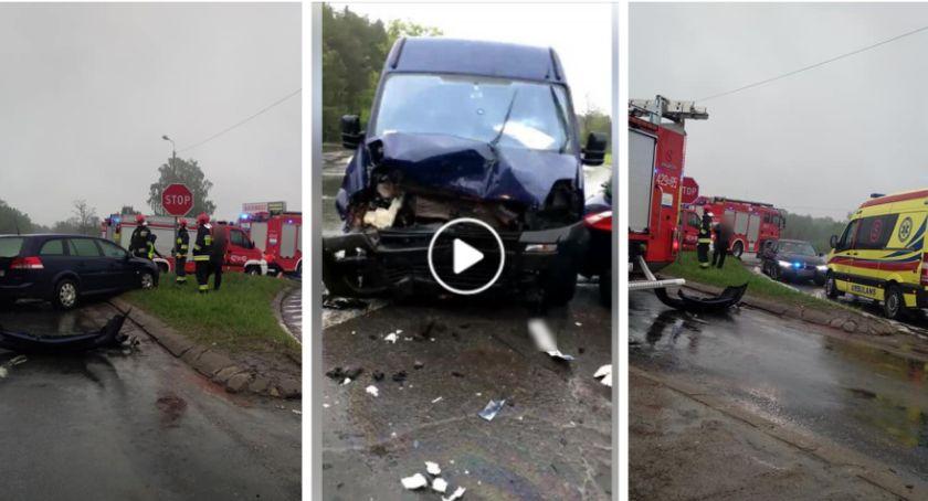 Wypadki drogowe , Wypadek skrzyżowaniu Wildze (video) - zdjęcie, fotografia
