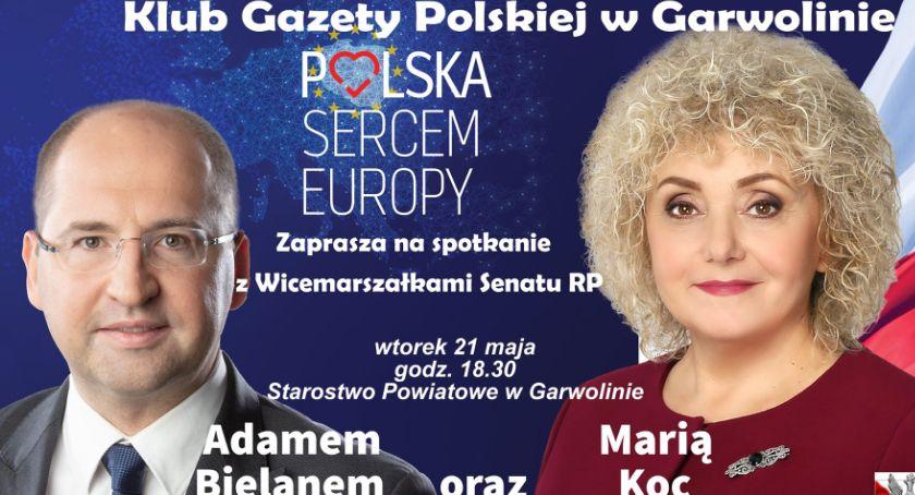W Garwolinie, Spotkanie wicemarszałkami Senatu - zdjęcie, fotografia
