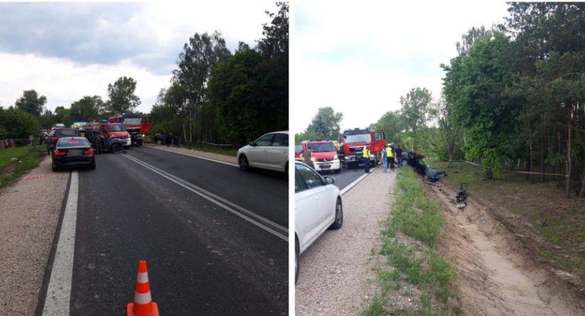 Wypadki drogowe , Śmiertelny wypadek 801– Droga zablokowana - zdjęcie, fotografia