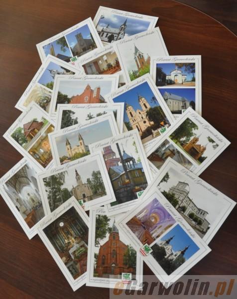 Archiwum, rowerach zwiedzą kościoły pocztówek - zdjęcie, fotografia