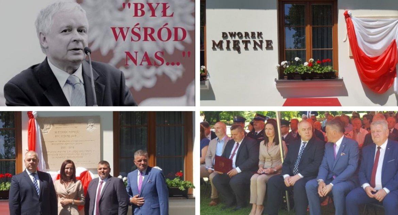 Uroczystości Powiat, Upamiętnili rocznicę wizyty prezydenta Kaczyńskiego powiecie - zdjęcie, fotografia