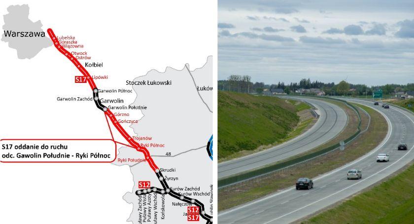 S17 - od dziś dłuższa o 30 kilometrów