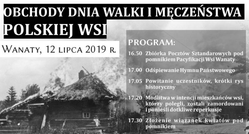W Powiecie, DzieńWalki Męczeństwa Polskiej Wanatach - zdjęcie, fotografia