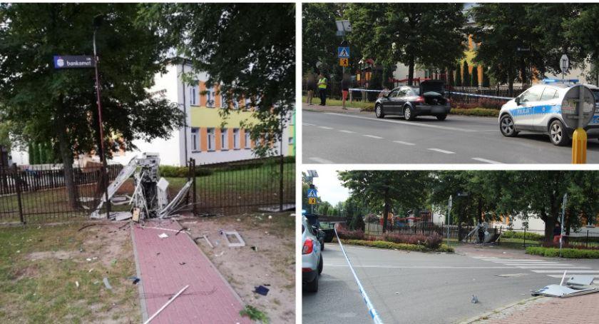 Sprawy kryminalne , Wysadzili bankomat wybuch bomby - zdjęcie, fotografia