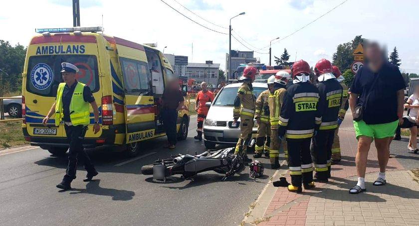 Wypadki drogowe , Zderzenie motocykla– szpitalu latek - zdjęcie, fotografia
